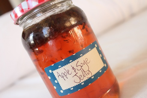 Apple and sage jelly, a recipe from Wolves in London