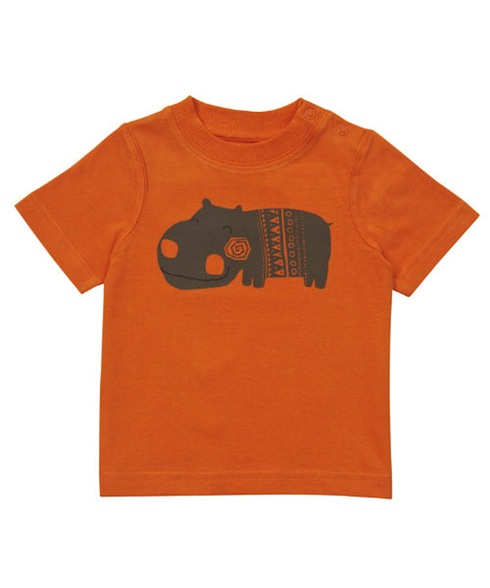 Orange Mothercare hippo T-shirt