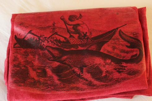 T-shirt printed with shark graphic