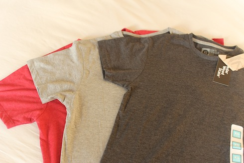 Three T-shirts