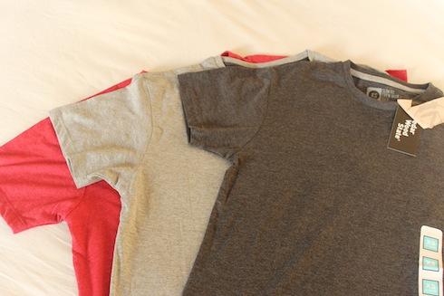 Three T-shirts