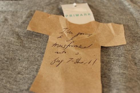 A T-shirt tag