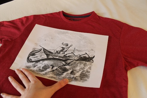 Image lined up on T-shirt