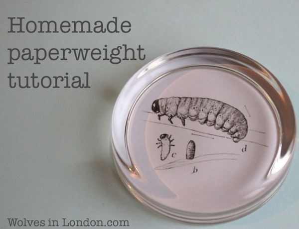 Homemade paperweight tutorial