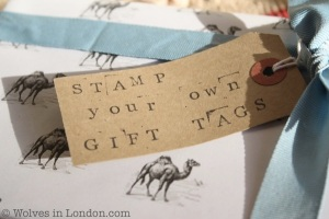 Stamp your own gift tags
