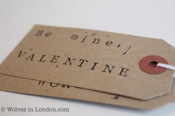 Stamp your own gift tags for Valentine's Day
