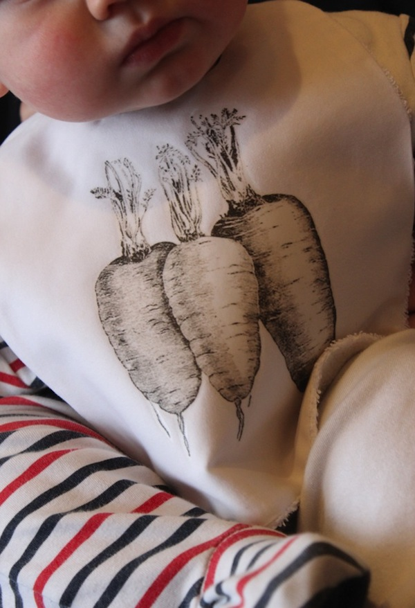 Print your own carrot bib