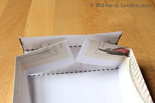Handmade gift box template and tutorial