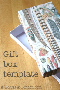 Gift box template and tutorial