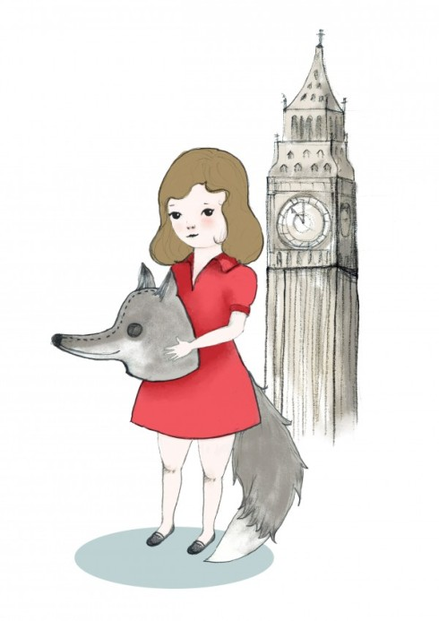 Wolves in London illustration