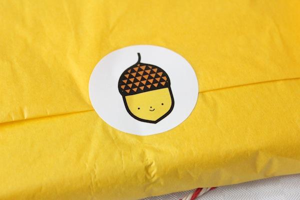 Acorn sticker