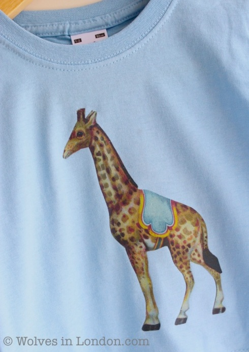 Homemade giraffe T-shirt | Wolves in London