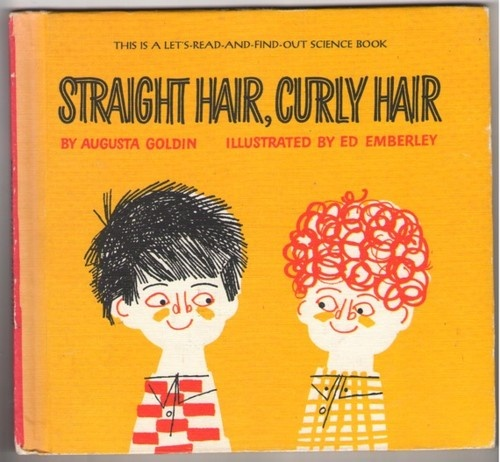 Straight hair, curly hair, vintage book design