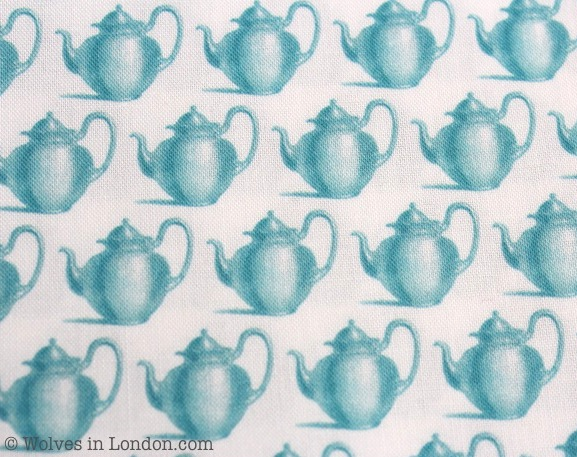 Teapot fabric designed by Wolves in London