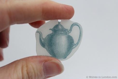 Shrink plastic teapot