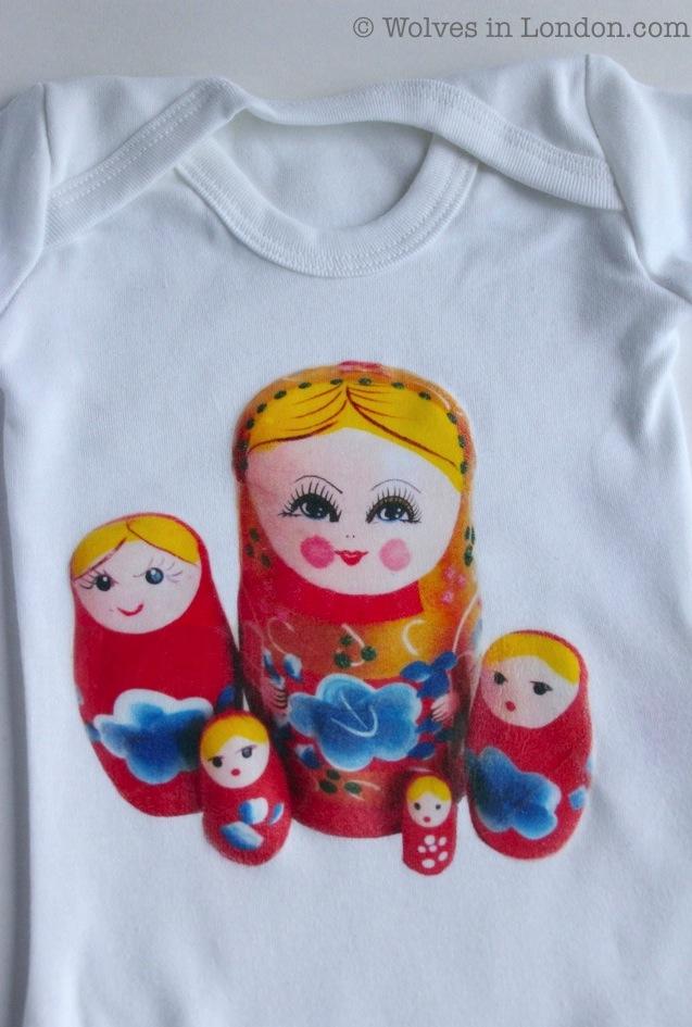 Russian doll babygrow