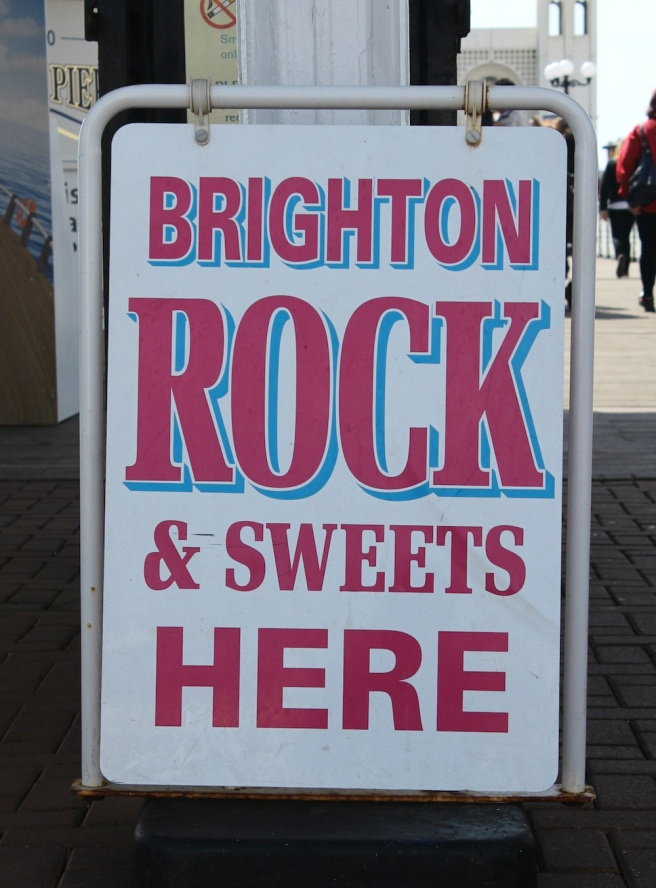 Brighton Rock sign