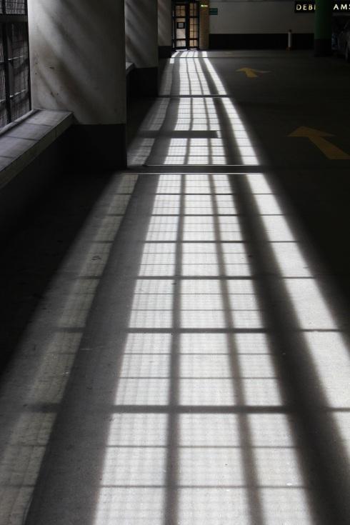 Sunlight in car park