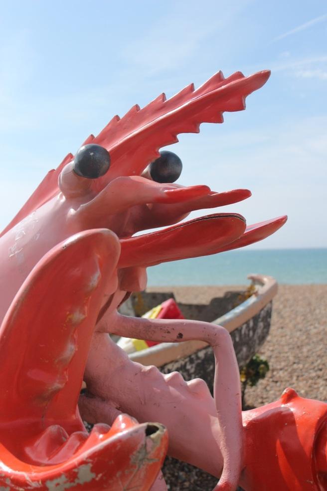 Prawn sculptue, Brighton