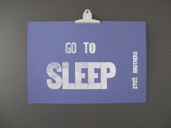 Go to sleep poster