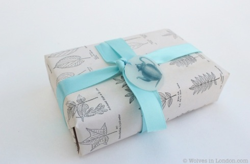 Homemade leaf wrapping paper