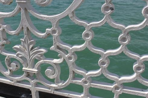 Brighton pier railings