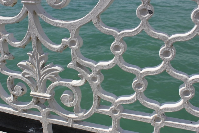 Brighton pier railings