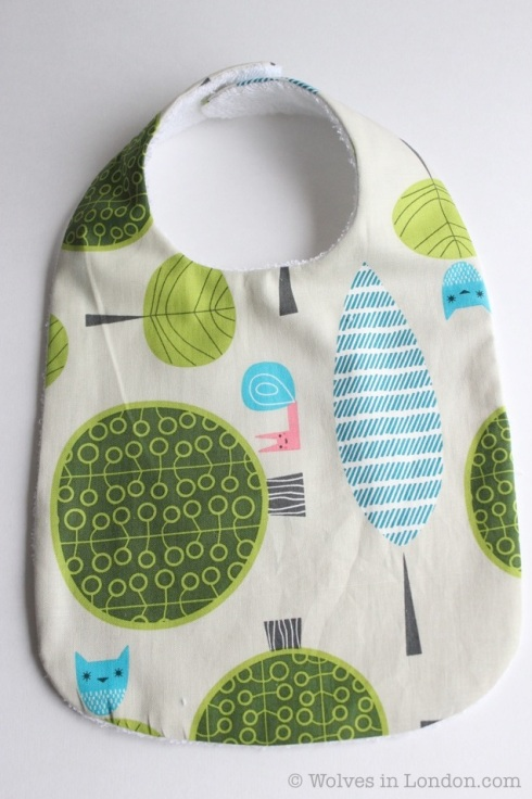 Homemade baby bib