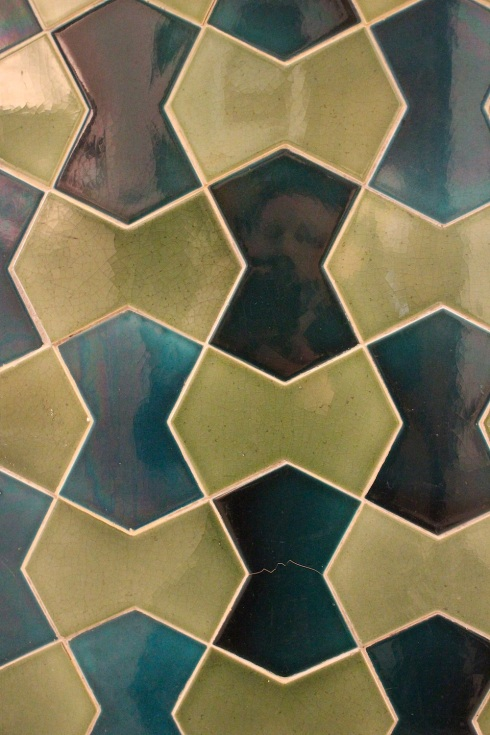 Tiled wall, Brighton museum