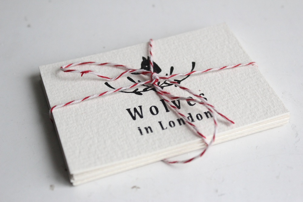 Beautiful letterpress business cards wolves in london letterpress business cards colourmoves