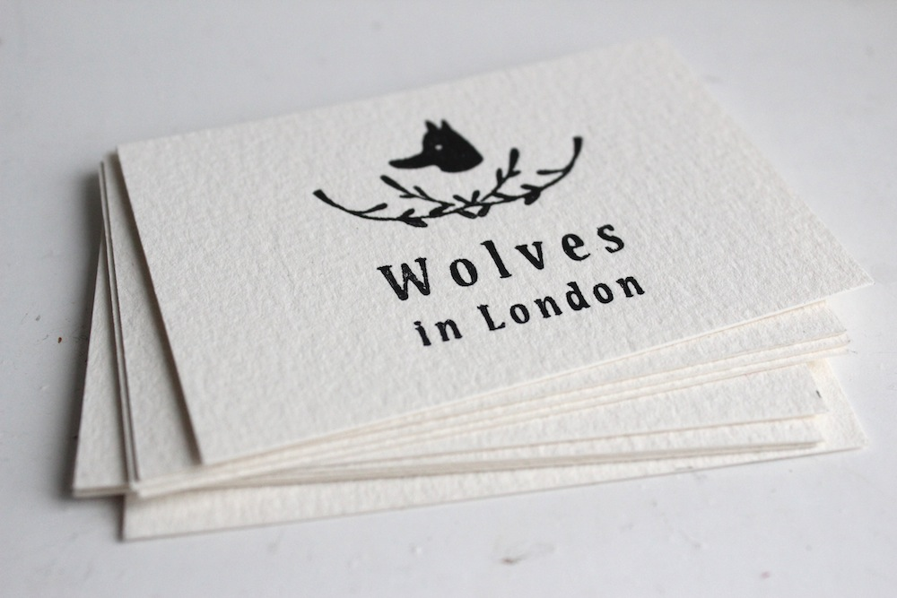 Beautiful letterpress business cards | Wolves in London