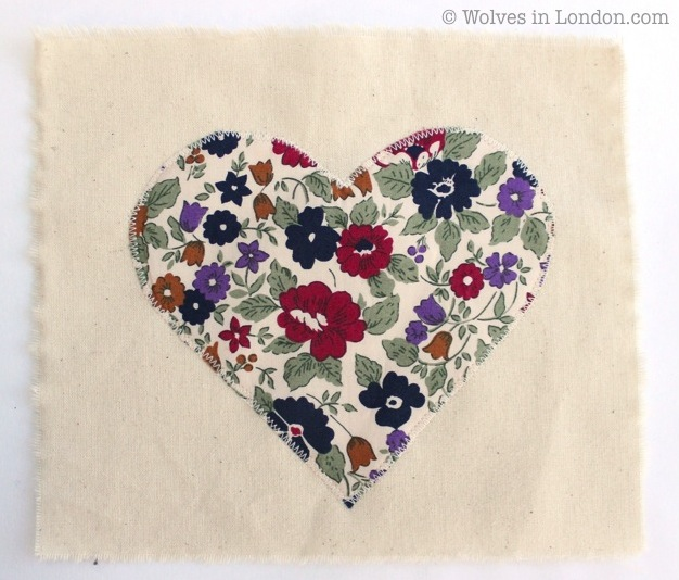 Applique heart | Wolves in London