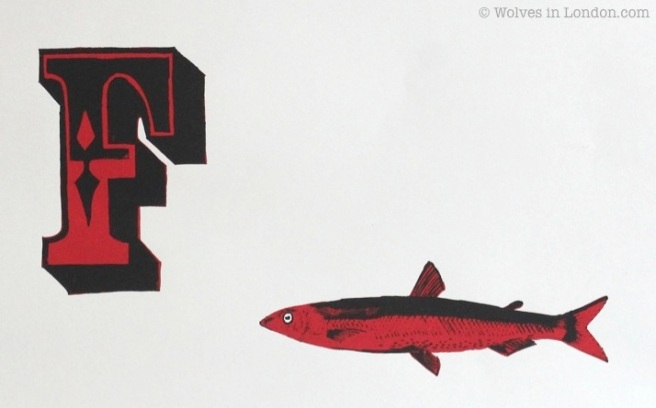 Screen print F for fish