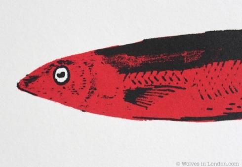 Fish face screen print