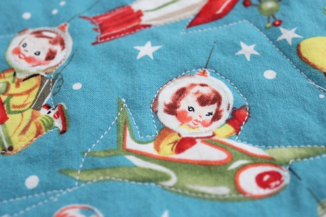 Quilted retro burp cloth
