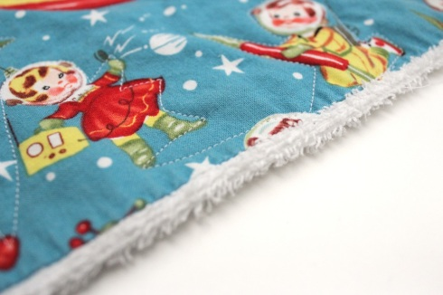 Quilted burp cloth