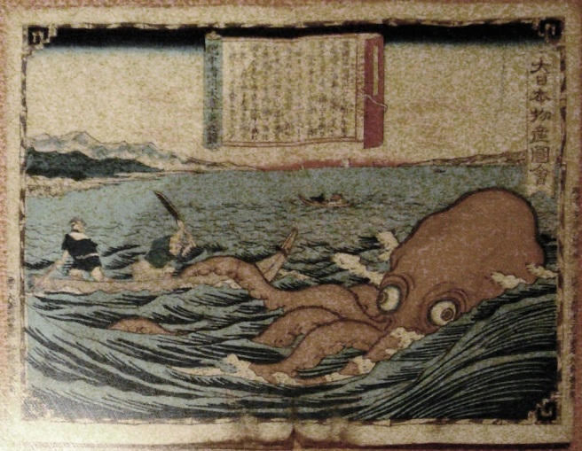 Octopus Japanese woodblock print