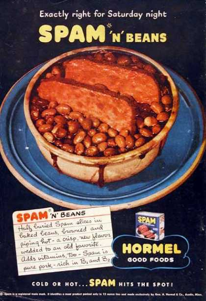Vintage spam advert
