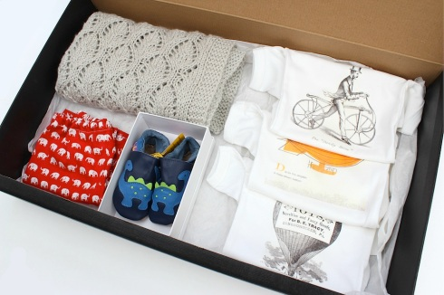 Homemade baby present box
