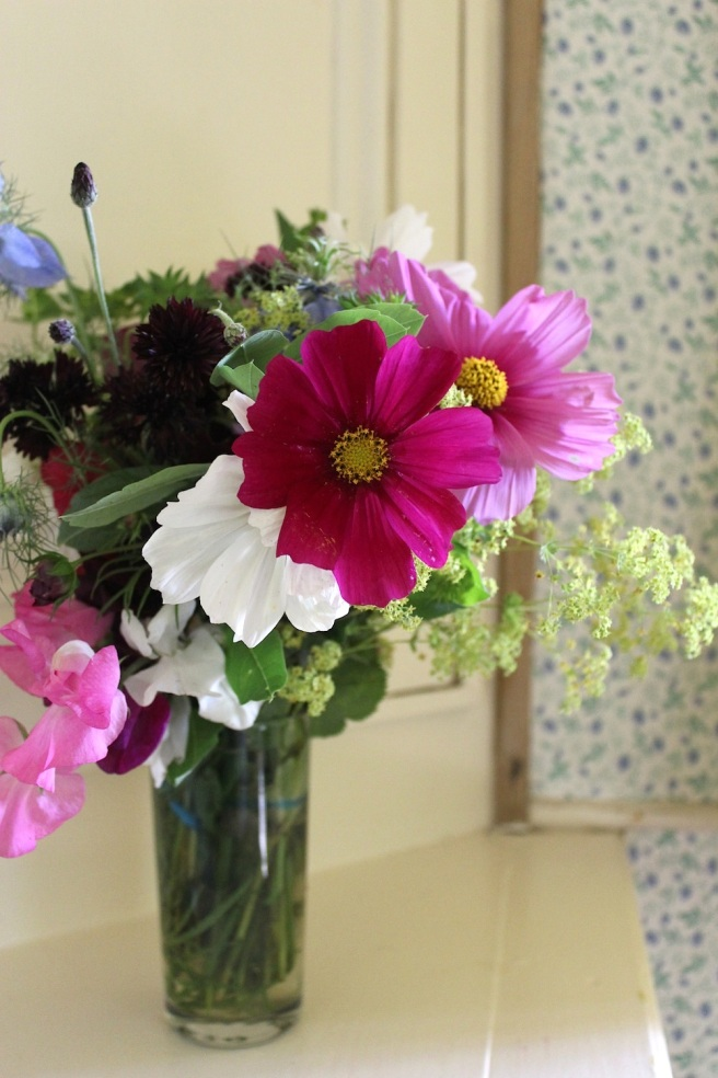 A jug of English flowers