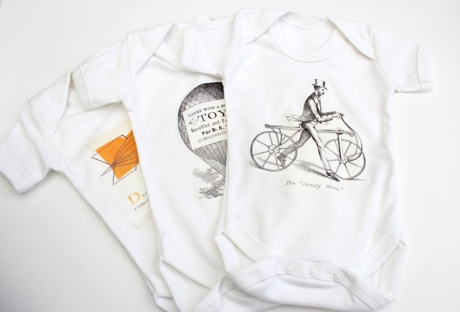homeprinted babygrows
