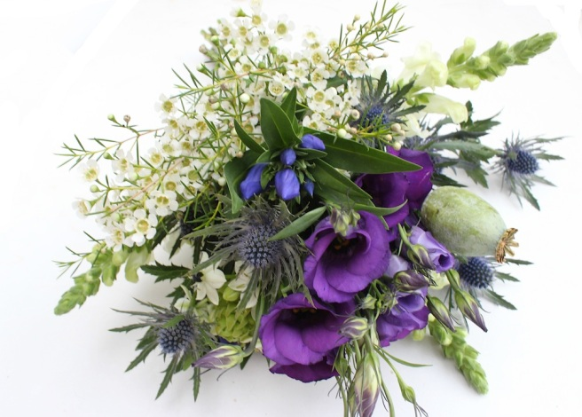 Later summer wedding bouquet
