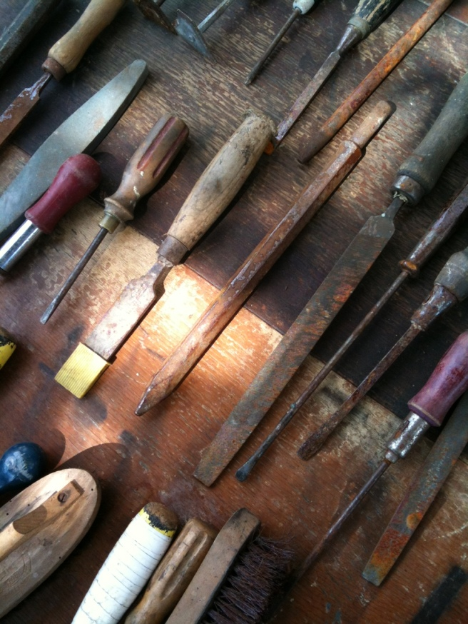 Old tools lined up
