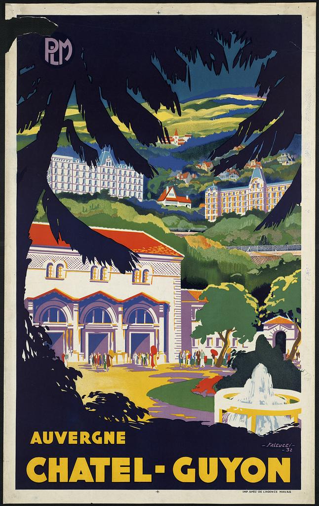 France vintage travel poster