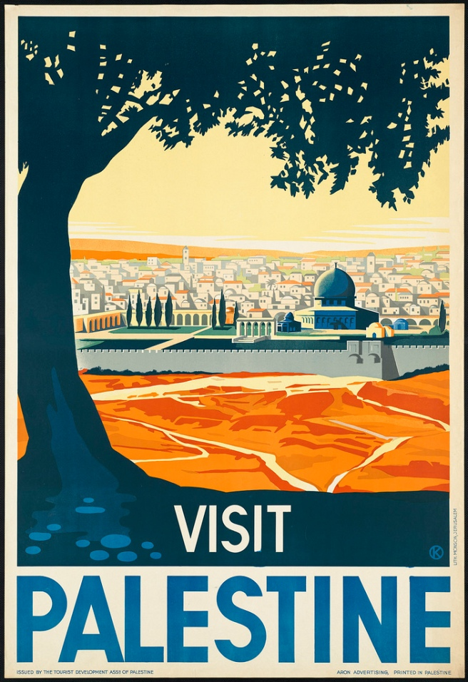 Palestine vintage travel poster