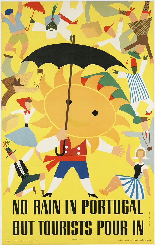 Portugal vintage travel poster