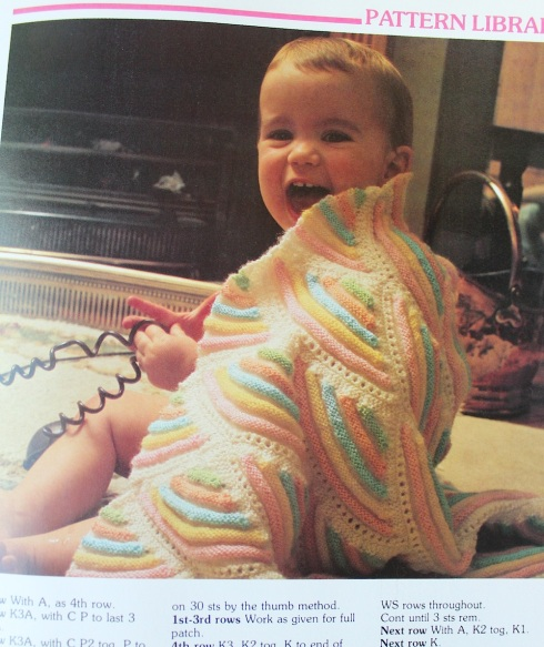 Retro baby blanket pattern