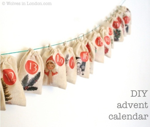 DIY advent calendar tutorial from Wolves in London