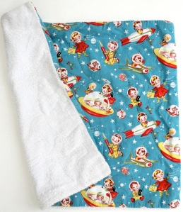 Homemade quilted burp cloth