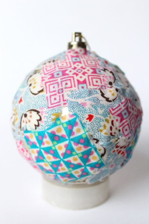 DIY fabric baubles
